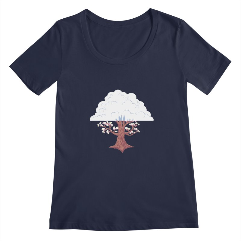 The Fogwood Tree Women's Scoopneck by deantrippe's Artist Shop