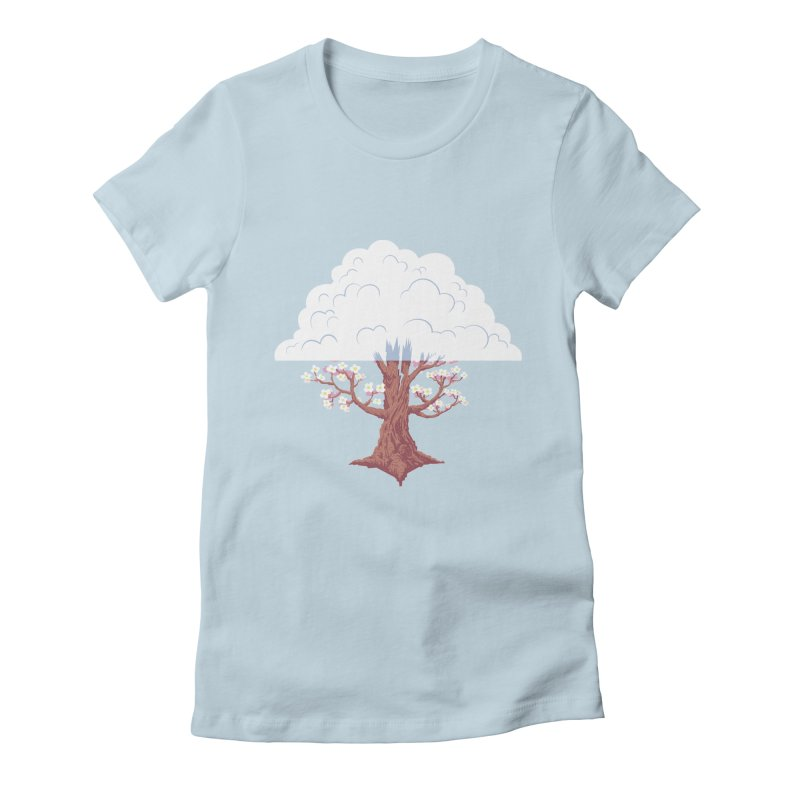 The Fogwood Tree Women's Fitted T-Shirt by deantrippe's Artist Shop