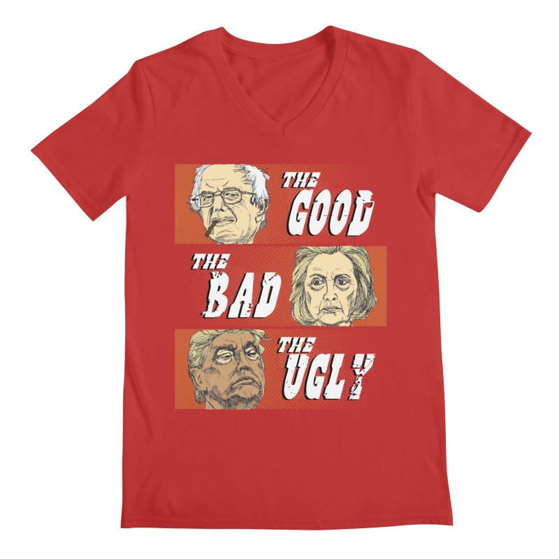 Presidential Race: The Good, The Bad, The Ugly: 2016 Men's Regular V-Neck by deathandtaxes's Artist Shop