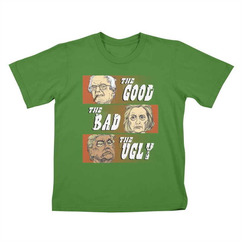 Presidential Race: The Good, The Bad, The Ugly: 2016 Kids T-shirt by deathandtaxes's Artist Shop