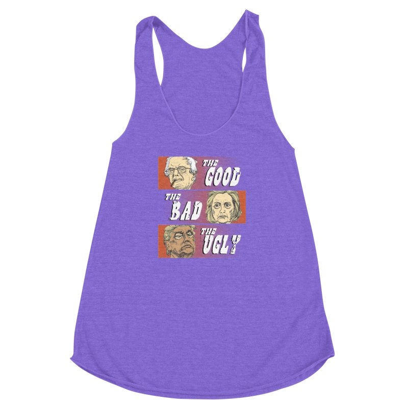 Presidential Race: The Good, The Bad, The Ugly: 2016 Women's Racerback Triblend Tank by deathandtaxes's Artist Shop