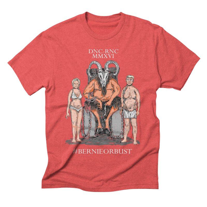 Never Hilary or Trump, Bernie or Bust Men's Triblend T-shirt by deathandtaxes's Artist Shop