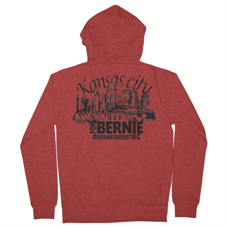 KC For Bernie! Women's French Terry Zip-Up Hoody by deathandtaxes's Artist Shop