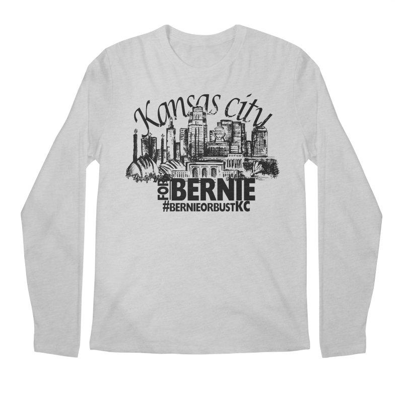 KC For Bernie! Men's Longsleeve T-Shirt by deathandtaxes's Artist Shop