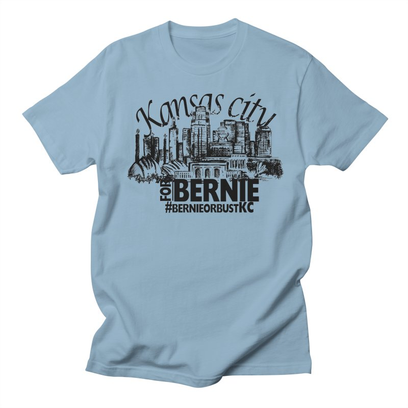 KC For Bernie! in Men's Regular T-Shirt Light Blue by deathandtaxes's Artist Shop