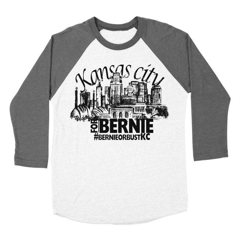 KC For Bernie! Women's Baseball Triblend Longsleeve T-Shirt by deathandtaxes's Artist Shop