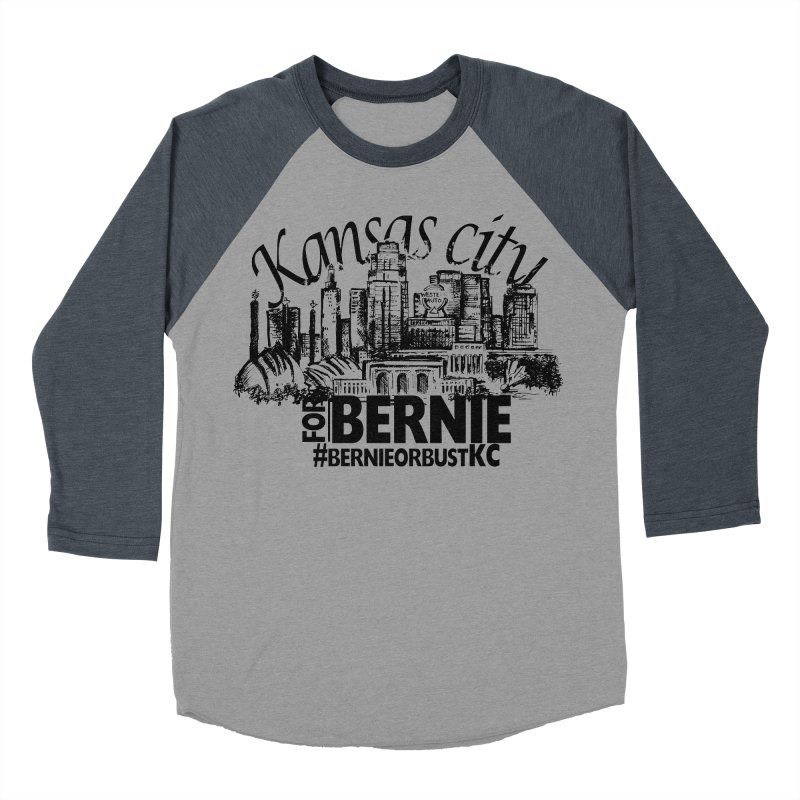 KC For Bernie! Men's Baseball Triblend Longsleeve T-Shirt by deathandtaxes's Artist Shop