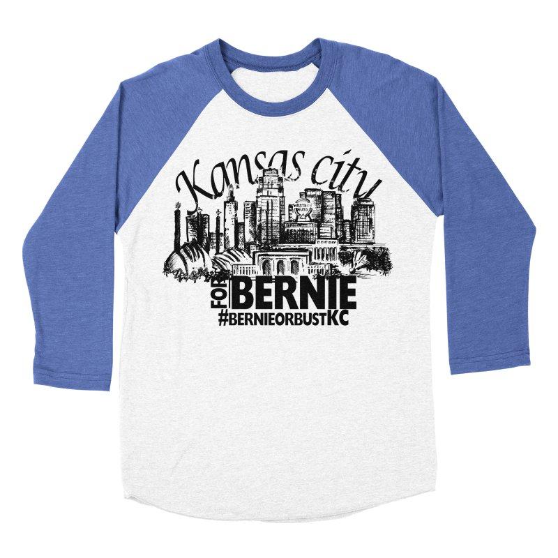 KC For Bernie! Men's Baseball Triblend T-Shirt by deathandtaxes's Artist Shop