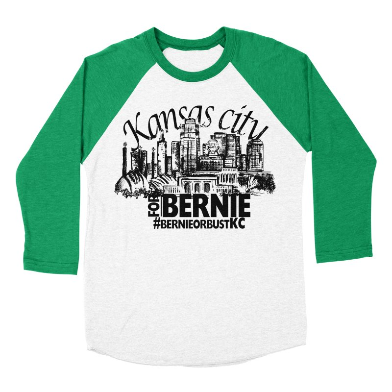 KC For Bernie! Men's Baseball Triblend T-Shirt by deathandtaxes's Artist Shop