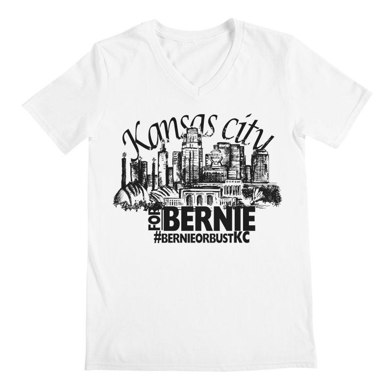 KC For Bernie! Men's V-Neck by deathandtaxes's Artist Shop