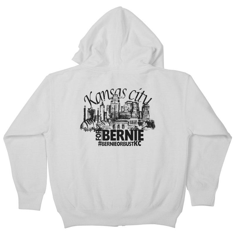 KC For Bernie! Kids Zip-Up Hoody by deathandtaxes's Artist Shop