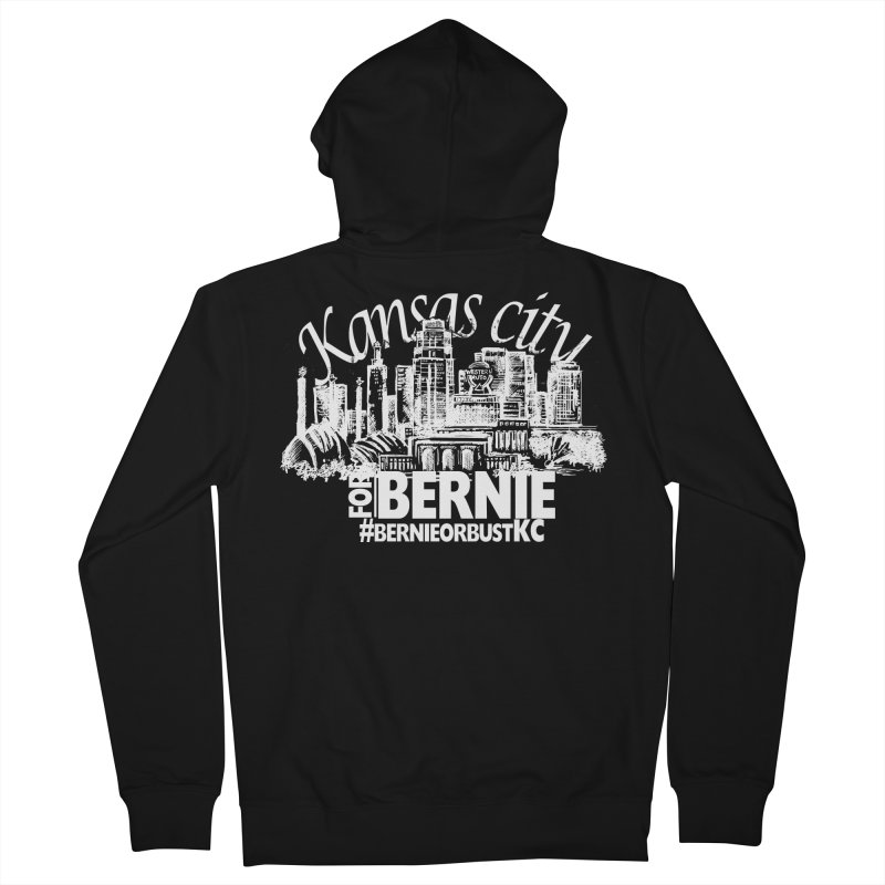KC for Bernie! Men's Zip-Up Hoody by deathandtaxes's Artist Shop