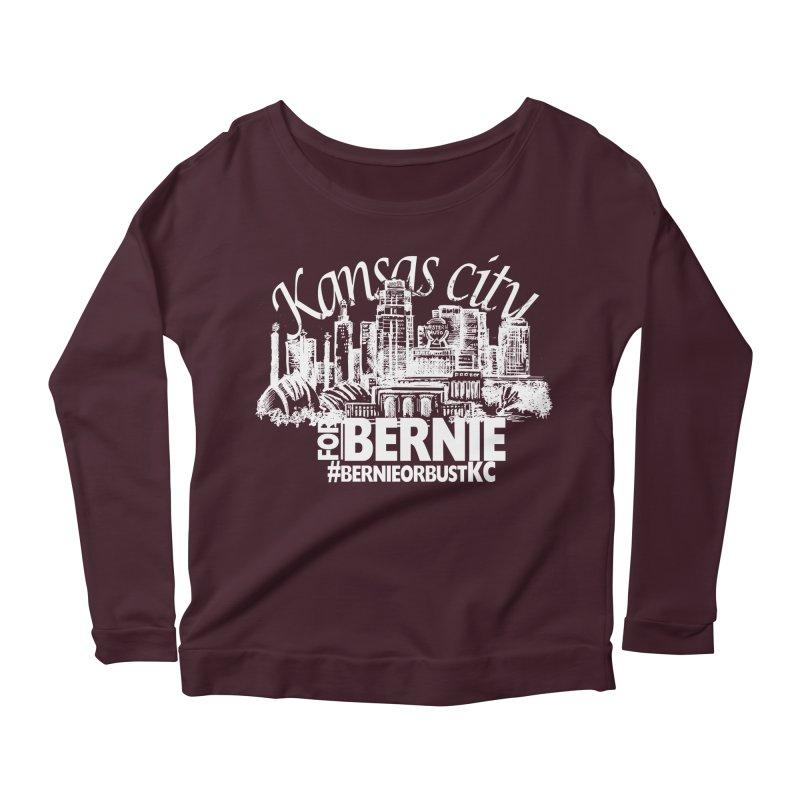 KC for Bernie! Women's Longsleeve Scoopneck  by deathandtaxes's Artist Shop