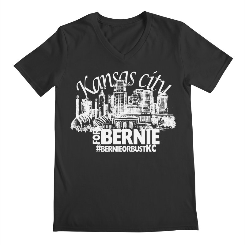 KC for Bernie! Men's V-Neck by deathandtaxes's Artist Shop