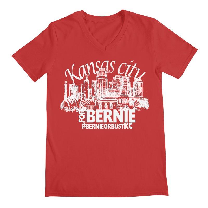 KC for Bernie! Men's Regular V-Neck by deathandtaxes's Artist Shop
