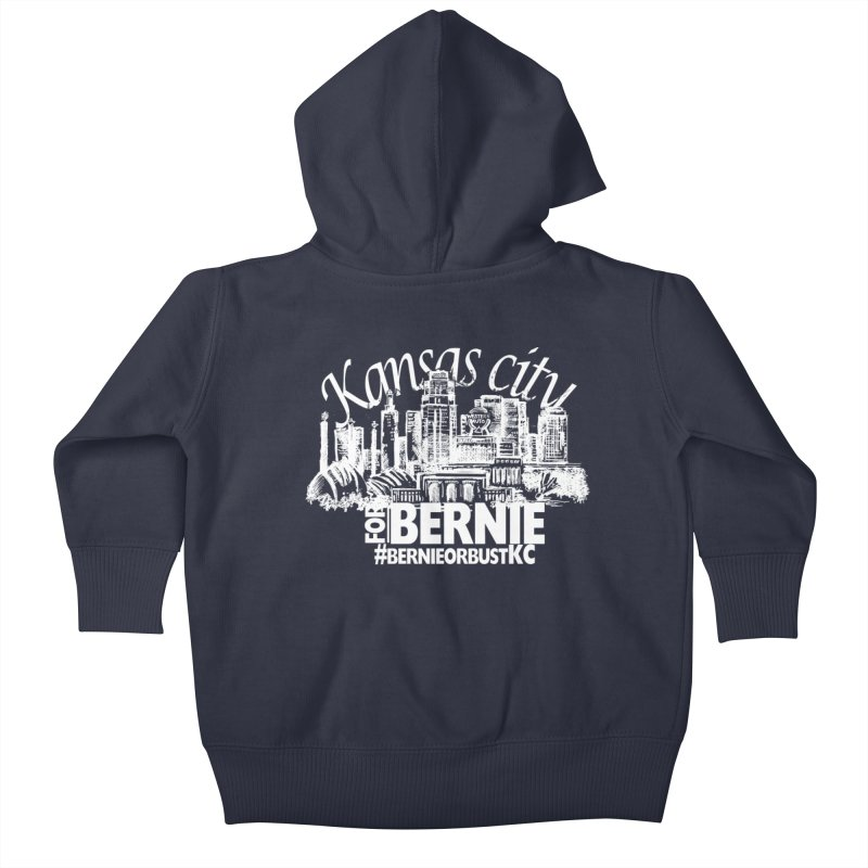 KC for Bernie! Kids Baby Zip-Up Hoody by deathandtaxes's Artist Shop