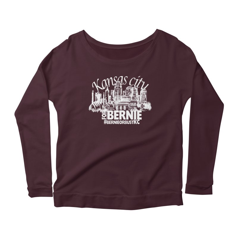 KC for Bernie! Women's Longsleeve Scoopneck  by deathandtaxes's Artist Shop