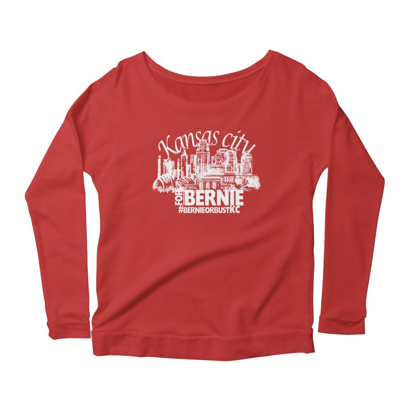 KC for Bernie! Women's Scoop Neck Longsleeve T-Shirt by deathandtaxes's Artist Shop