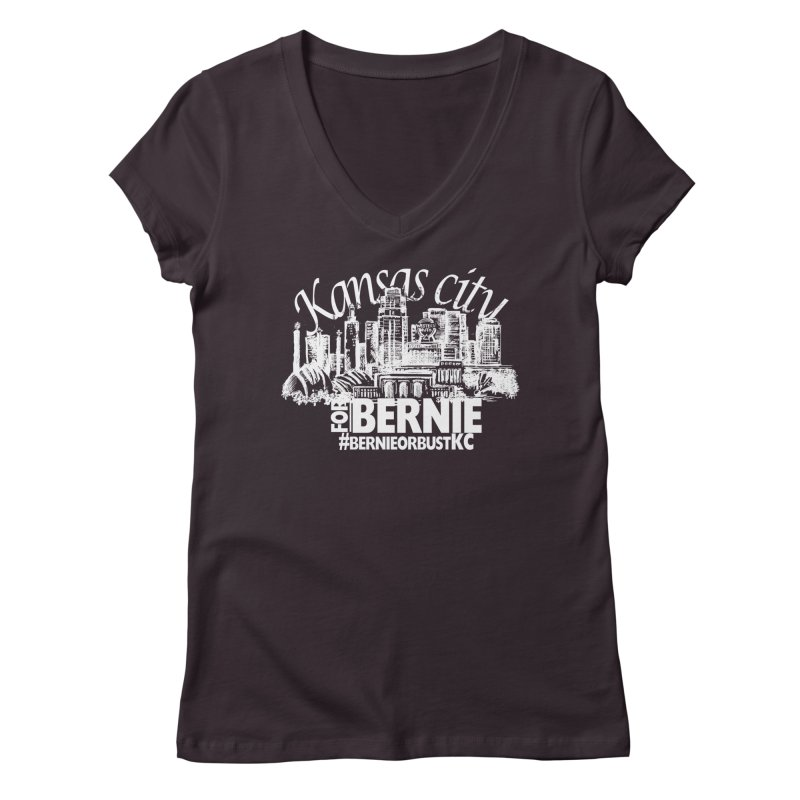 KC for Bernie! Women's V-Neck by deathandtaxes's Artist Shop
