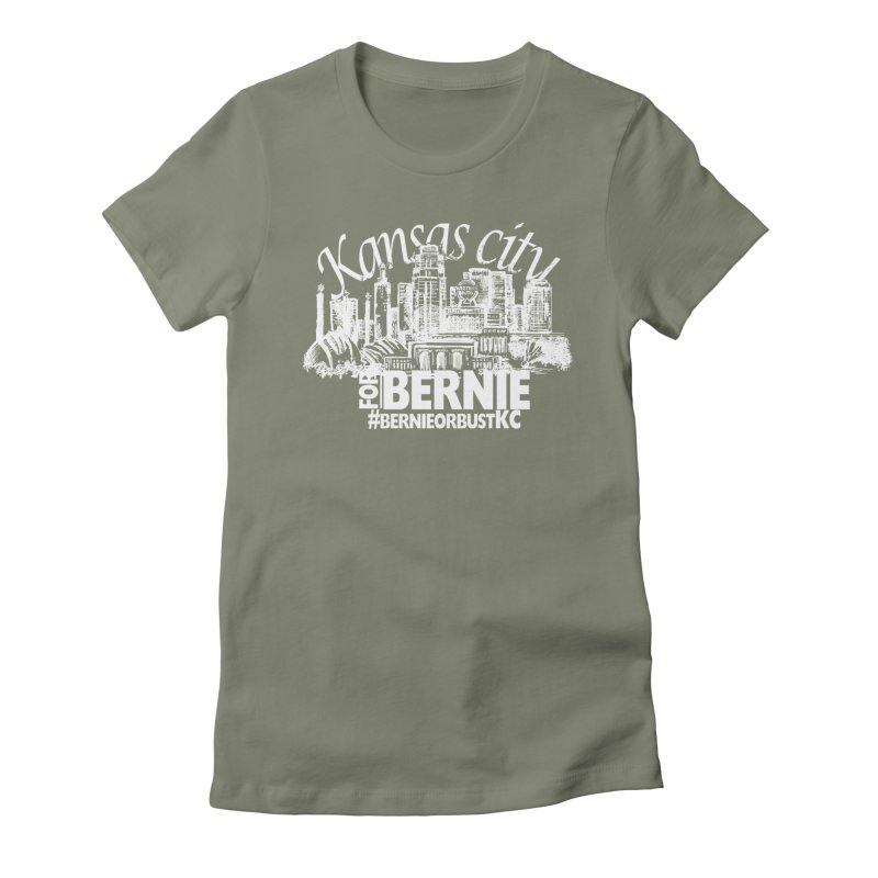 KC for Bernie! Women's Fitted T-Shirt by deathandtaxes's Artist Shop