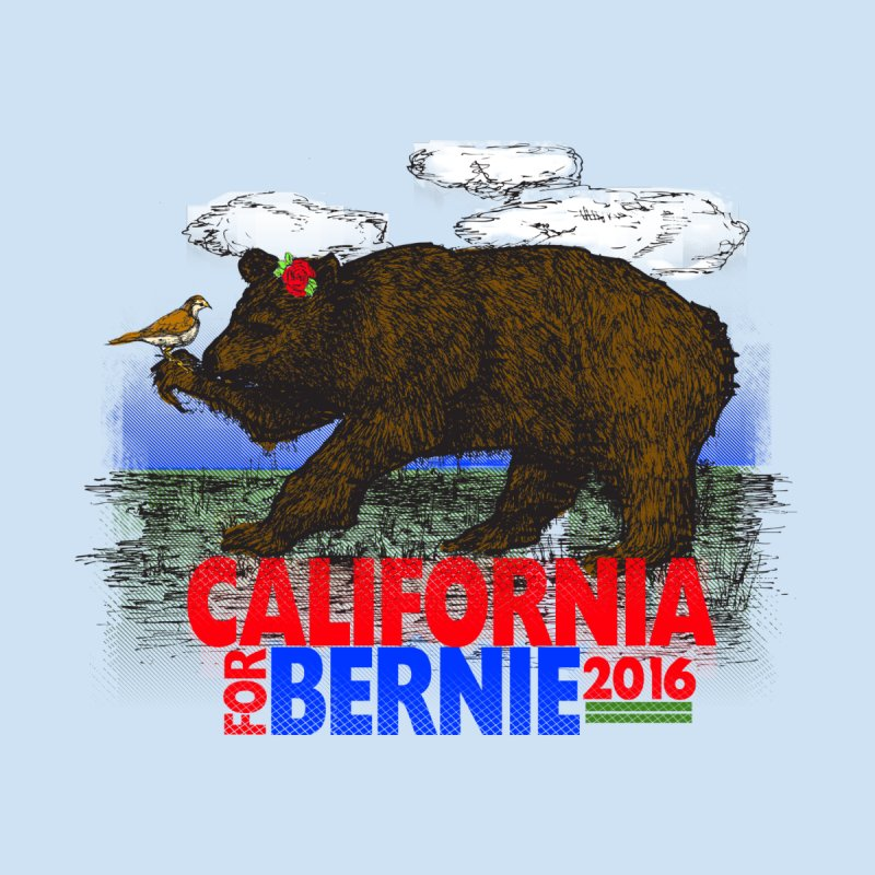 California For Bernie! Bear and Sparrow Men's Longsleeve T-Shirt by deathandtaxes's Artist Shop