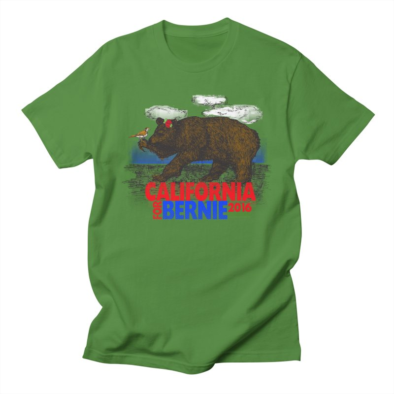 California For Bernie! Bear and Sparrow Men's T-Shirt by deathandtaxes's Artist Shop