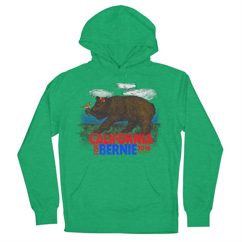 California For Bernie! Bear and Sparrow Women's Pullover Hoody by deathandtaxes's Artist Shop