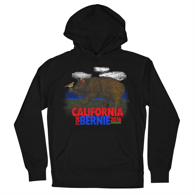 California For Bernie! Bear and Sparrow Women's French Terry Pullover Hoody by deathandtaxes's Artist Shop