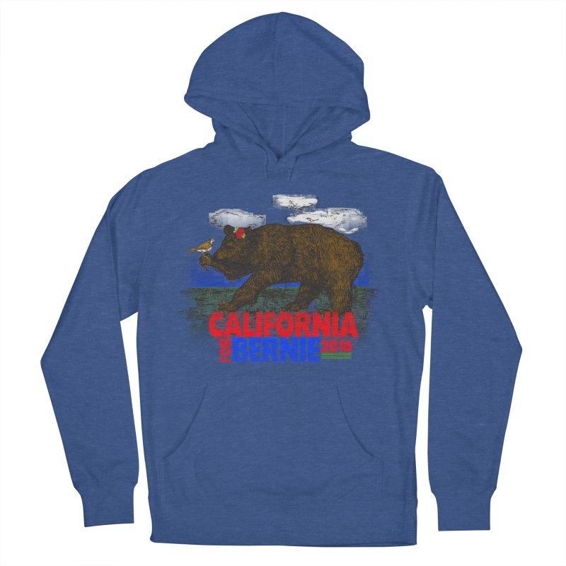 California For Bernie! Bear and Sparrow Men's Pullover Hoody by deathandtaxes's Artist Shop