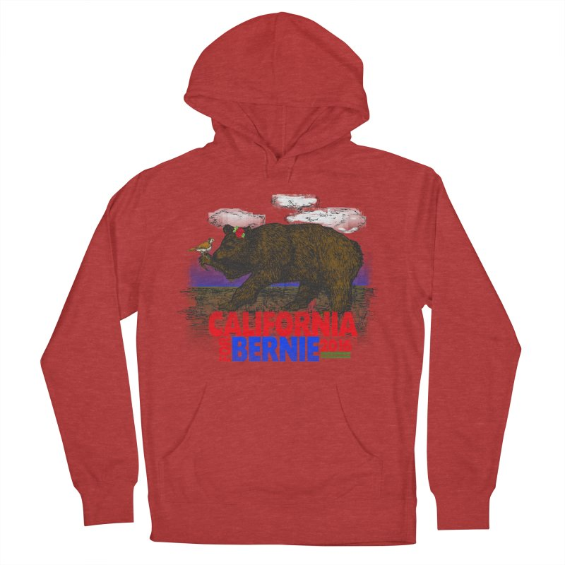 California For Bernie! Bear and Sparrow Men's French Terry Pullover Hoody by deathandtaxes's Artist Shop