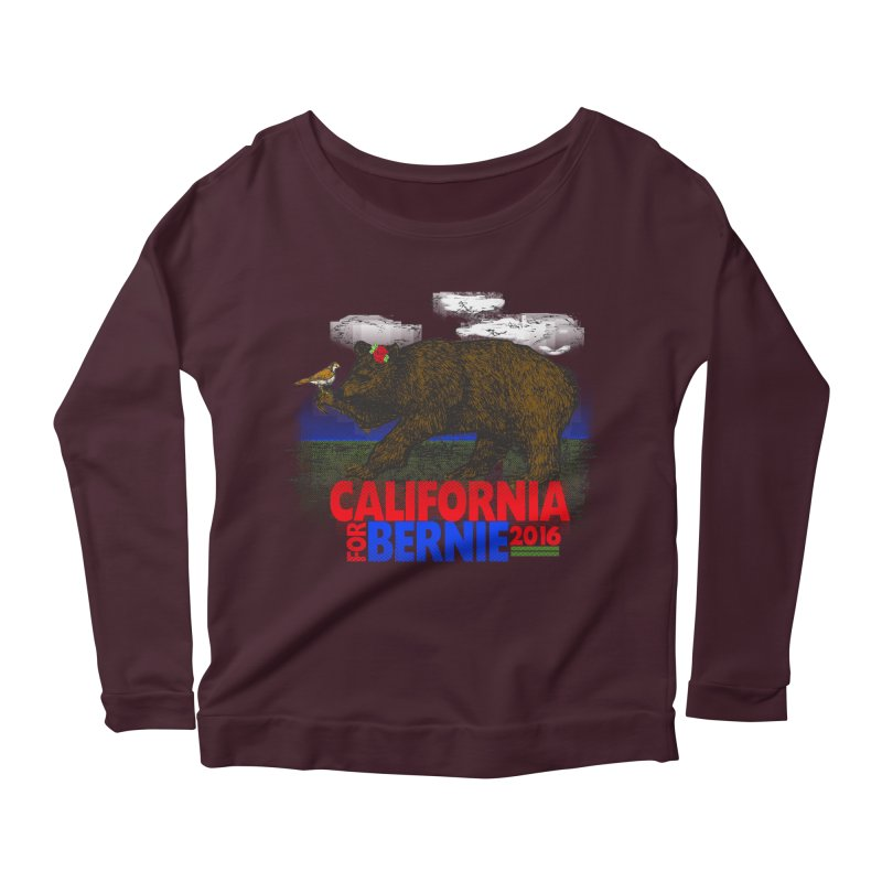 California For Bernie! Bear and Sparrow Women's Longsleeve Scoopneck  by deathandtaxes's Artist Shop