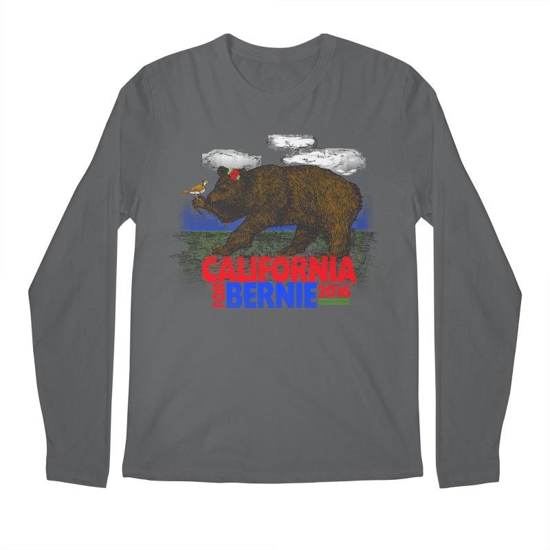 California For Bernie! Bear and Sparrow Men's Longsleeve T-Shirt by deathandtaxes's Artist Shop