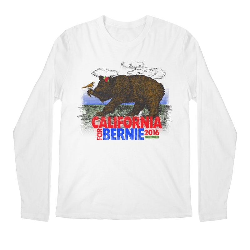 California For Bernie! Bear and Sparrow Men's Regular Longsleeve T-Shirt by deathandtaxes's Artist Shop
