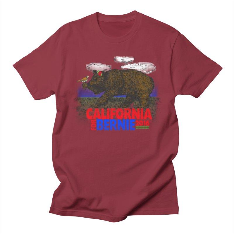 California For Bernie! Bear and Sparrow Men's  by deathandtaxes's Artist Shop