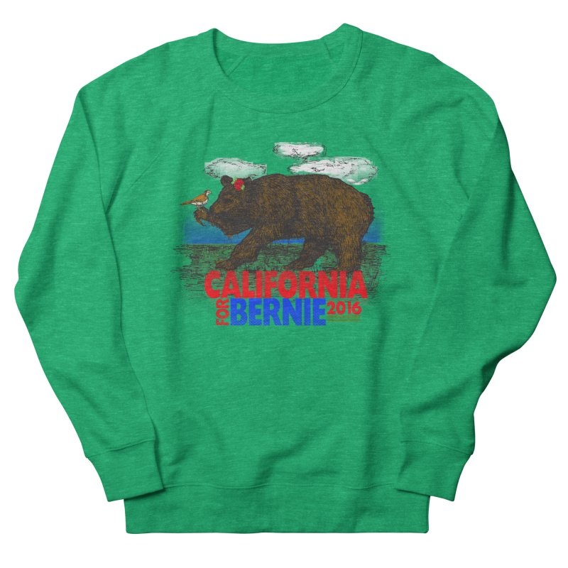 California For Bernie! Bear and Sparrow Women's Sweatshirt by deathandtaxes's Artist Shop