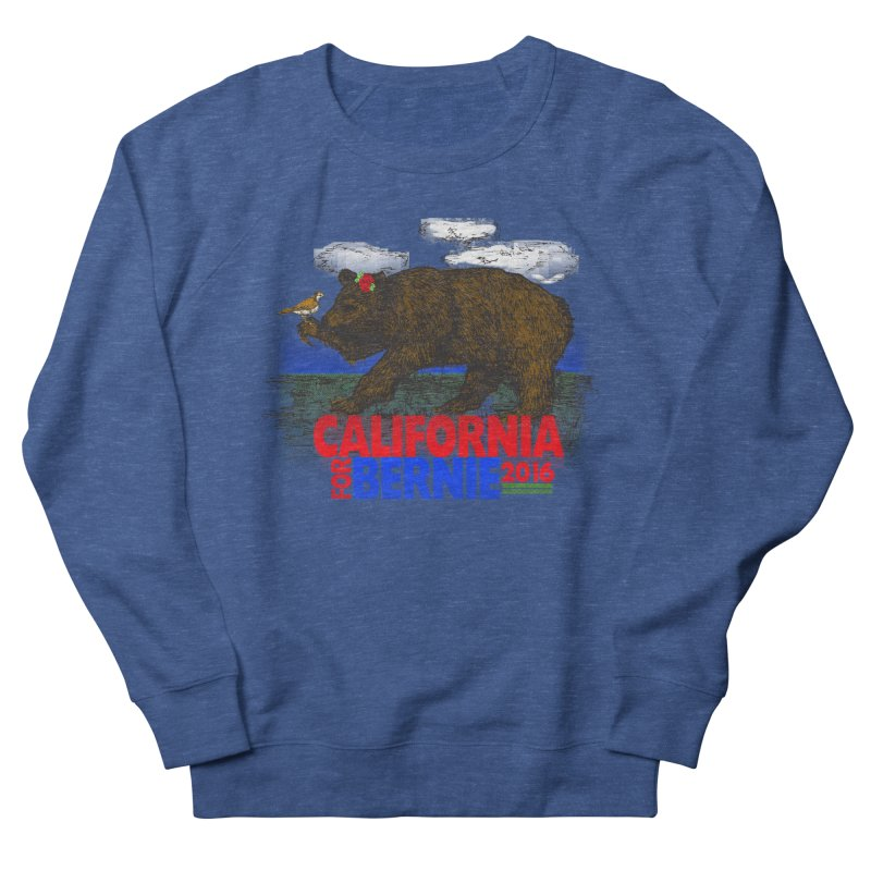 California For Bernie! Bear and Sparrow Women's French Terry Sweatshirt by deathandtaxes's Artist Shop