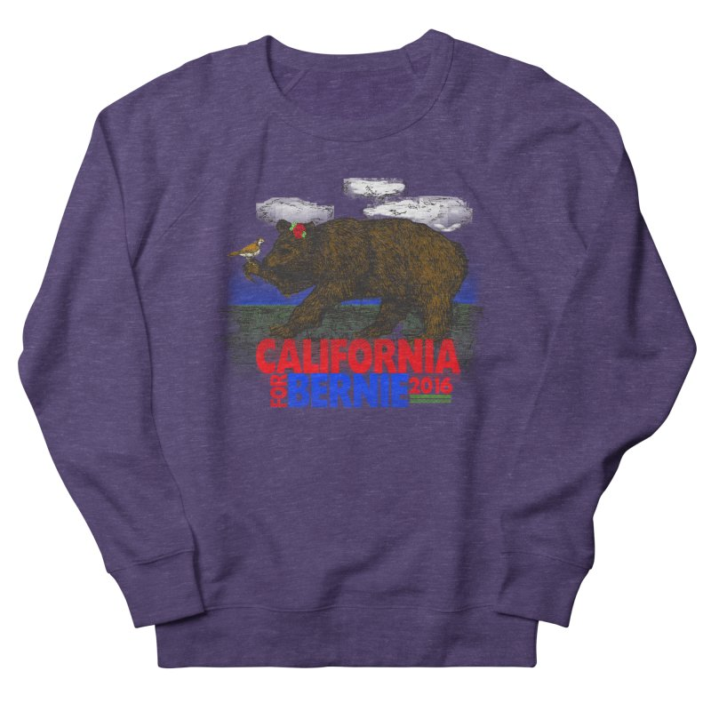 California For Bernie! Bear and Sparrow Men's French Terry Sweatshirt by deathandtaxes's Artist Shop