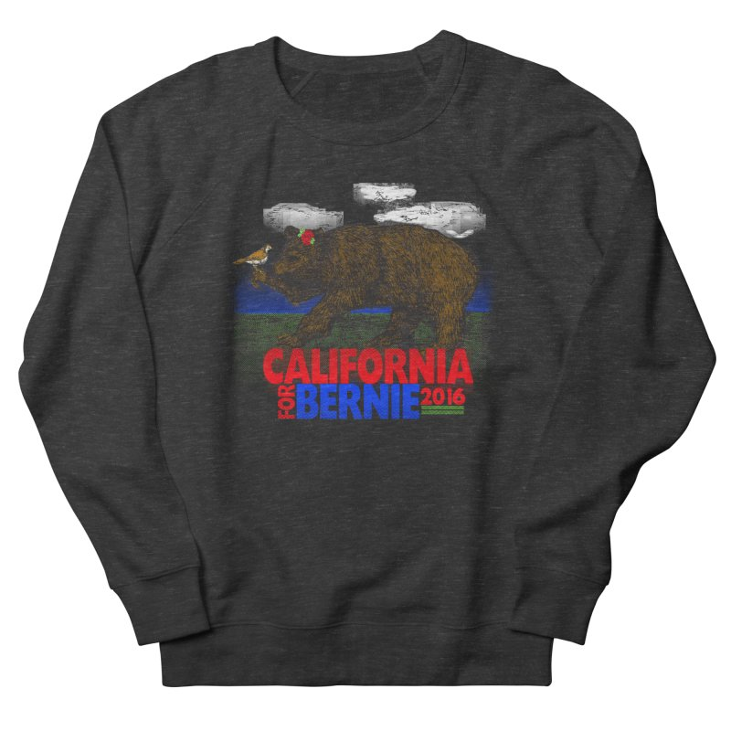 California For Bernie! Bear and Sparrow Men's Sweatshirt by deathandtaxes's Artist Shop