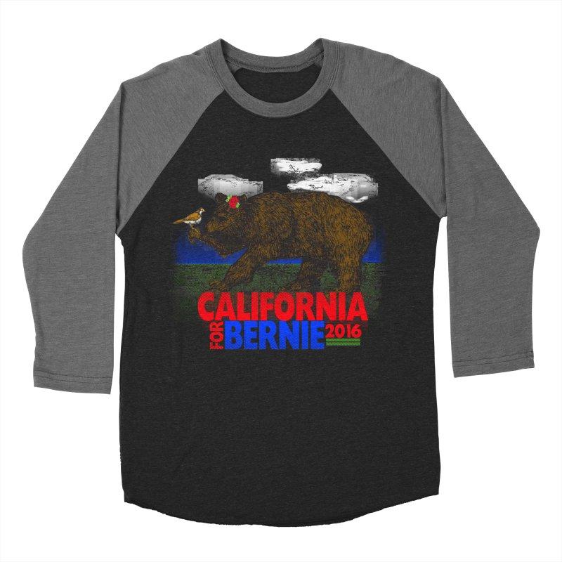 California For Bernie! Bear and Sparrow Women's Baseball Triblend T-Shirt by deathandtaxes's Artist Shop