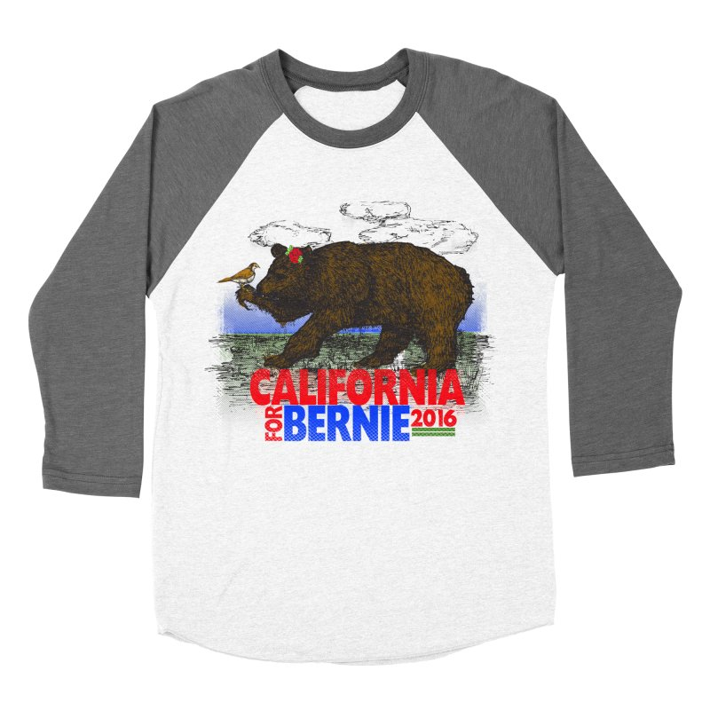 California For Bernie! Bear and Sparrow Men's Baseball Triblend Longsleeve T-Shirt by deathandtaxes's Artist Shop