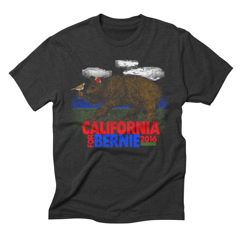California For Bernie! Bear and Sparrow Men's Triblend T-shirt by deathandtaxes's Artist Shop