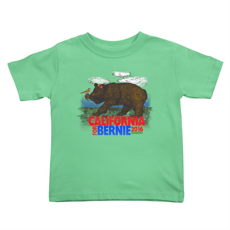 California For Bernie! Bear and Sparrow   by deathandtaxes's Artist Shop