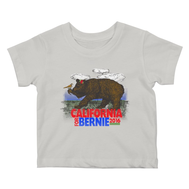 California For Bernie! Bear and Sparrow Kids  by deathandtaxes's Artist Shop