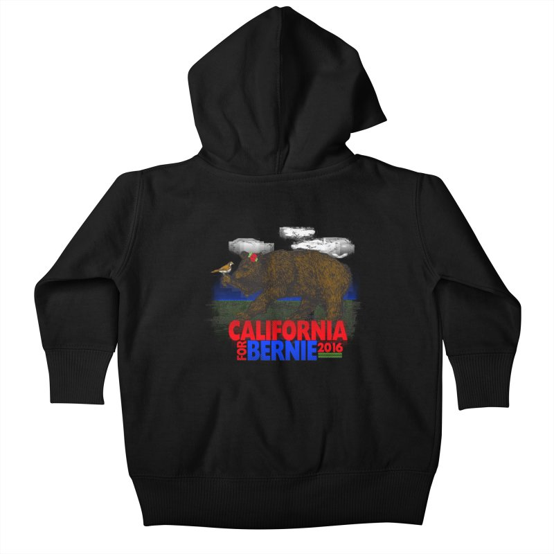 California For Bernie! Bear and Sparrow Kids Baby Zip-Up Hoody by deathandtaxes's Artist Shop