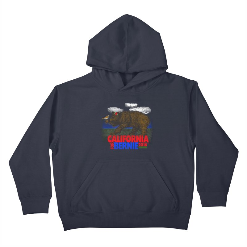 California For Bernie! Bear and Sparrow Kids Pullover Hoody by deathandtaxes's Artist Shop