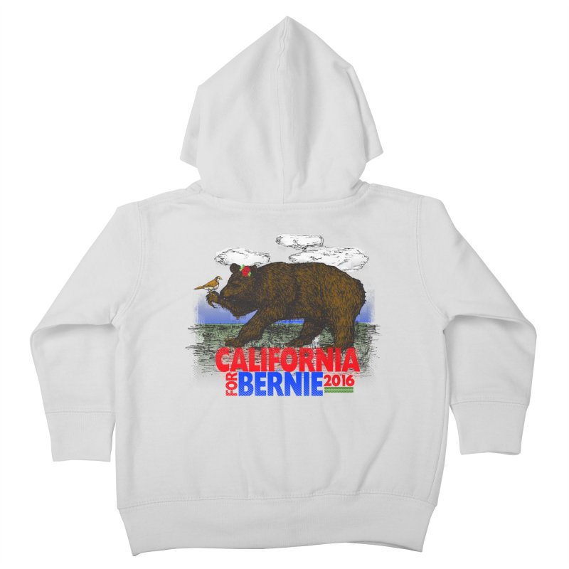 California For Bernie! Bear and Sparrow Kids Toddler Zip-Up Hoody by deathandtaxes's Artist Shop