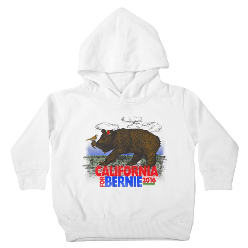 California For Bernie! Bear and Sparrow Kids Toddler Pullover Hoody by deathandtaxes's Artist Shop