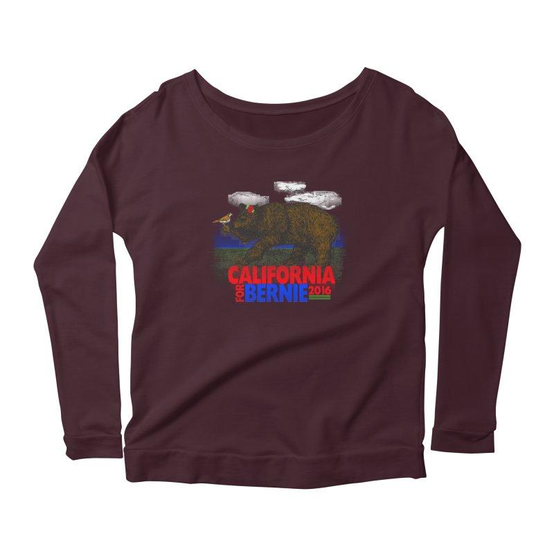 California For Bernie! Bear and Sparrow Women's Longsleeve T-Shirt by deathandtaxes's Artist Shop