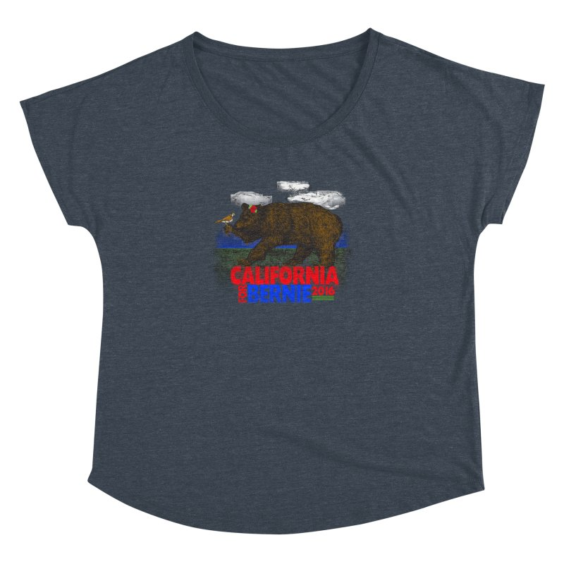 California For Bernie! Bear and Sparrow Women's Dolman Scoop Neck by deathandtaxes's Artist Shop