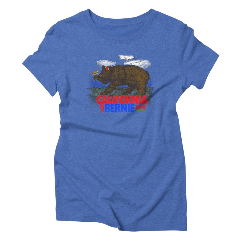 California For Bernie! Bear and Sparrow Women's Triblend T-shirt by deathandtaxes's Artist Shop
